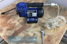 Single Action Bleeding Airbrush w/ Mini Compressor for Painting Fishing Lures