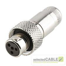 Hicon MINI- XLR 4 broches Douille robuste IP67 femelle MAX Ø de câble 4,9mm
