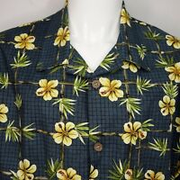 Toucan Dance by Fast Lane Mens Large Aloha Hawaiian Tropical Shirt Hibiscus C10