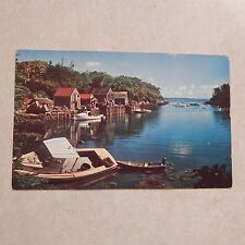 Vintage Postcard One Of Maine's Picturesque Fishing Villages