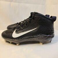 New Nike Force Zoom Trout 5 Pro Black Baseball Cleats AH3372-010 Men's Size 8