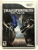 Transformers: The Game (Nintendo Wii, 2007) Complete w/ Manual - Free Ship