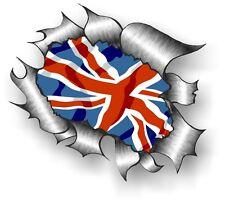 XXL Classic STRAPPATO metallo Rip inglese Union Jack UK GB bandiera adesivo auto