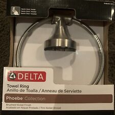 Delta Phoebe Brushed Nickel Towel Ring (Damaged Box)