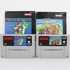 Snes - Super Mario World - Kart Für Super Nintendo
