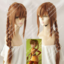Fawn animal fairy Tinker Bell Brown Ponytail modelling anime wig