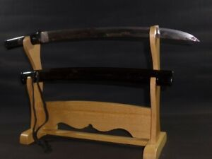 """NAGINATA NAOSHI WAKIZASHI (sword) w/Koshirae : MUROMACHI : 23.4 × 16.5 """" 520g"""