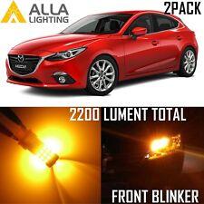 Alla Lighting 39-LED Front Turn Signal Light T20 Amber Blinker Bulb for Mazda 3