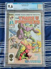 Transformers #10 (Marvel 1985) CGC 9.6 NM+, 1st Constructicons & Devastator