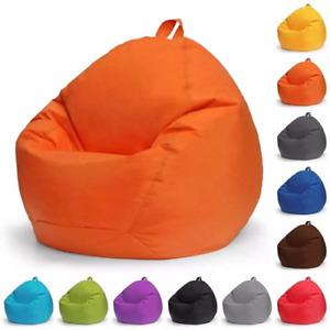 Lazy Sofa Cover Chair No Filling Waterproof Bean Bag Cushion Stool Shell