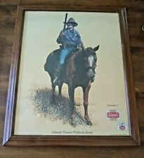 Vintage Schmidt's Beer Poster Print Framed Lawman II Western Collector Series