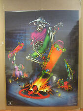 vintage No Skateboards Harron 1988 skeleton skater  Poster   4869