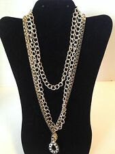 """Valerie Stevens 28"""" Graduate Gold Mixed Box Chains Fashion Necklace NWT"""