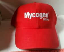 Dow Mycogen SEED corn red Cotton poly red Mesh Logo CAP HAT BRAND NEW