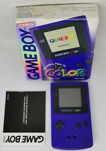 Boxed Gameboy Colour Purple  excellent condition FAST FREE TRACKED POST
