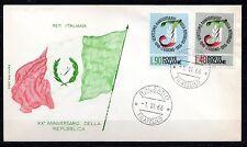 Italy - 1966 20 years republic - Mi. 1211-12 clean unaddressed FDC