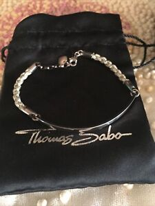 "New Thomas Sabo""Love Bridge ""Real Silver Bracelet"