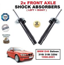 FRONT LEFT + RIGHT SHOCK ABSORBERS for BMW E46 Saloon 316i 318i 320d 1998-2001