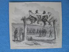 1883 Civil War Print - How Punishments in the Army Were Inflicted for Minor Off.