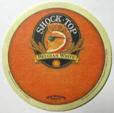 SHOCK TOP BELGIAN WHITE WHEAT BEER COASTER, Mat with ORANGE SLICE, Michelob 2010