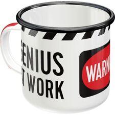 Genius at Work Blechtasse Emaille Becher Tasse 8 x 8 cm 360 ml
