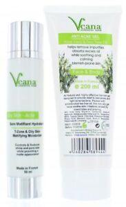 Anti Akne Matifying Moisturizer + Tea Tree Face Wash Powerset gegen Pickel