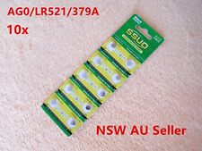 10pcs AG0/LR521/379A Button Cell Coin JAPAN STD Alkaline Battery 1.55V  Watches