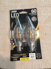 Feit Electric - Decorative Clear Glass Filament LED Dimmable 60W Equivale... New