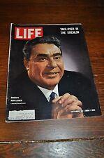 LIFE MAGAZINE OCT 23, 1964 RUSSIA`s New Leader - Leonid Brezhnev -BEATLES  ADS