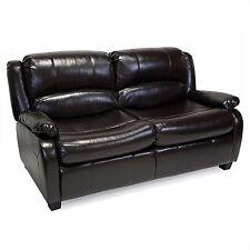 "RecPro™ Charles 65"" RV Sofa Sleeper w/ Hide A Bed Loveseat Espresso RV Furniture"