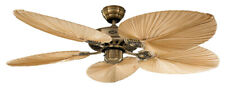Deckenventilator Classic ROYAL Tropical 132 cm Messing antik Flügel Palme Natur