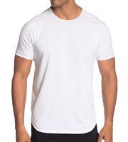 John Varvatos Star USA Men's Short Sleeve Performance Raglan Crew T-Shirt White