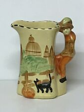 Hand Painted Art Deco Pottery Jug