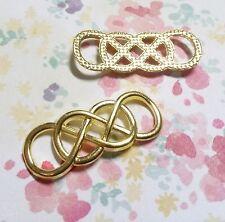 4 Infinity Pendants Shiny Gold Infinity Charms Connectors Links Double Infinity