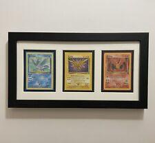 Framed Pokemon Card Display: Articuno Moltres Zapdos - Legendary Birds