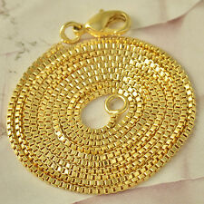 24 inches 9K Yellow Gold Filled Mens/Womens Chain Necklace F4566