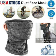 Ice Silk Face Mask Tube Scarf Balaclava Neck Gaiter Outdoor Bandana Headwear