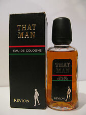 SUPER RARE COLONIA UOMO VINTAGE THAT MEN REVLON 125ML EAU DE COLOGNE HOMME MAN