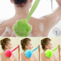 2017 Long Handle Hanging Soft Mesh Back Body Bath Shower Scrubber Brush Sponge