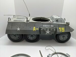 "*INCOMPLETE* 2000 G.I. Joe 1/6 WWII M8 Light Armored Car 12"" Vehicle Hasbro A15"