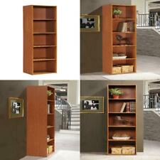 5 Shelf Bookcase Home Shelving Storage Bookshelf Cherry Organizer Furniture New
