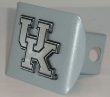 Kentucky Wildcats UK Brushed Chrome Metal Hitch Cover NCAA Licensed Basketball