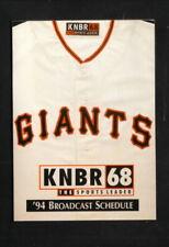 San Francisco Giants--1994 Pocket Schedule--KNBR/Fuller O'Brien Paints