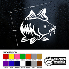 CARP FISH - Fishing/Angling, Van/Car/Window/Tackle Box, Sticker/Decal Any Colour