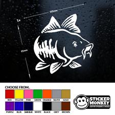 CARP FISH - Fishing/Angling, Van/Car/Window/Tackle Box, Sticker/Decal Any Colour