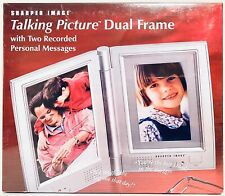 Sharper Image Talking Picture Dual Frame New Sealed Record Electronic Message