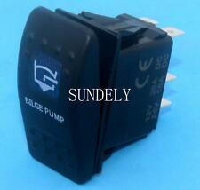 NARVA STYLE ROTARY BILGE PUMP SWITCH BLUE LED 4X4 4WD 12 VOLT ON/OFF SWITCH
