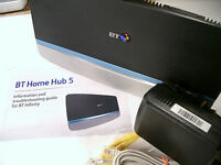 BT Home Hub 5 Infinity Fibre ADSL Dual Band Wireless AC Gigabit Router Plusnet