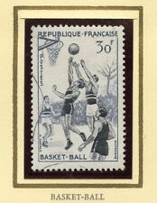 STAMP / TIMBRE FRANCE OBLITERE N° 1072 SPORT LE BASKET BALL /