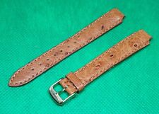 Genuine Longines Ostrich 14mm Watch Strap, With Gold Plated Buckle.